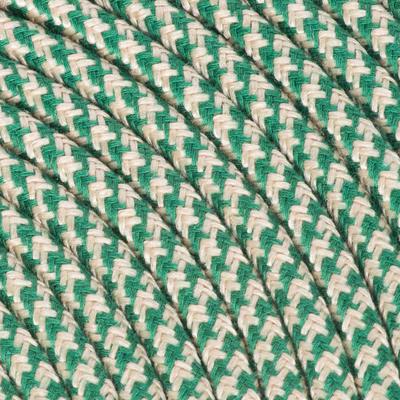 Cavo tessile sabbia/verde