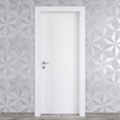 Porta da interno battente Hunk cemento calce 90 x H 210 cm dx