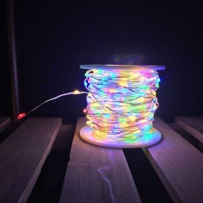 Catena luminosa 600 minilucciole Led multicolore 24 m