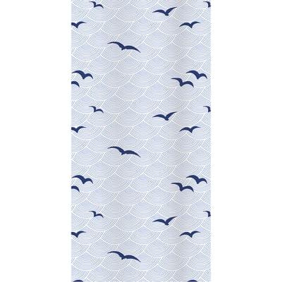 Tenda doccia Shore blu L 180 x H 200 cm