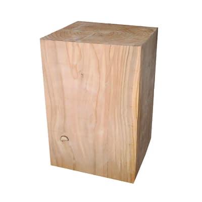 Tronco quadro legno L 30 x P 30 x H 45 cm grezzo