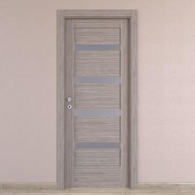 Porta da interno battente Capena 5 sabbia 80 x H 210 cm dx