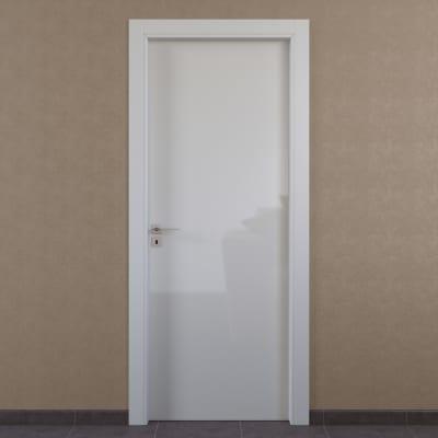 Porta da interno battente Massaua white bianco 80 x H 210 cm dx