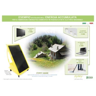 Impianto fotovoltaico portatile Pyppy fai da te 1200 nero 160 kW