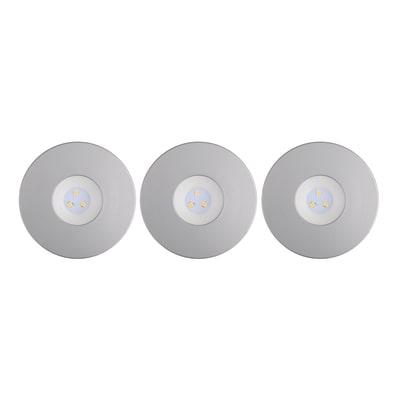Kit 3 faretti ad incasso LED integrato Ostra nickel fisso rotondo Ø 8 cm 3 x 3,5 W = 230 Lumen luce calda