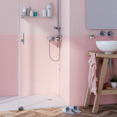 Piastrella Astuce 19,7 x 19,7 cm rosa