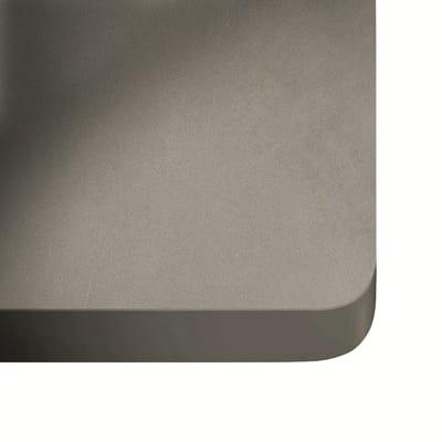 Alzatina su misura Sirocco ultra compatto grigio chiaro H 6 cm