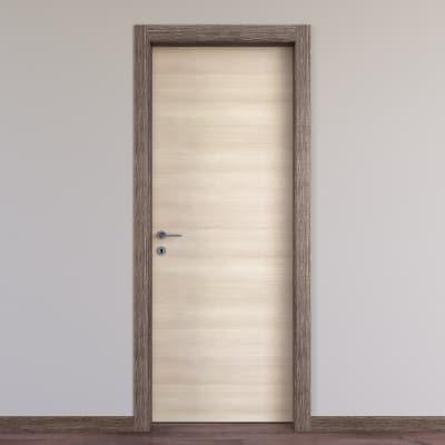 Porta da interno battente Mixage brown grano 70 x H 210 cm reversibile