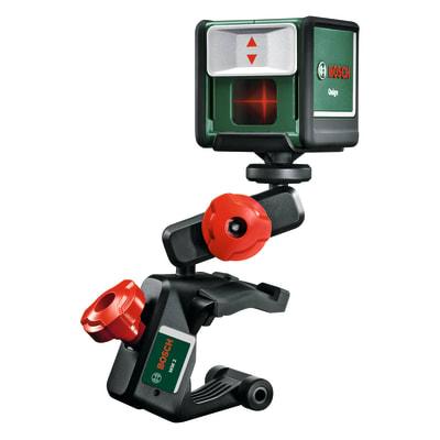 Livella laser multifunzione Bosch con due raggi perpendicolari per squadri QUIGO II