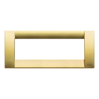 Placca 6 moduli Vimar Idea oro opaco