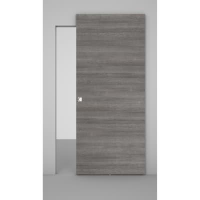 Porta da interno scorrevole Space binario nascosto pietra 101 x H 230 cm sx