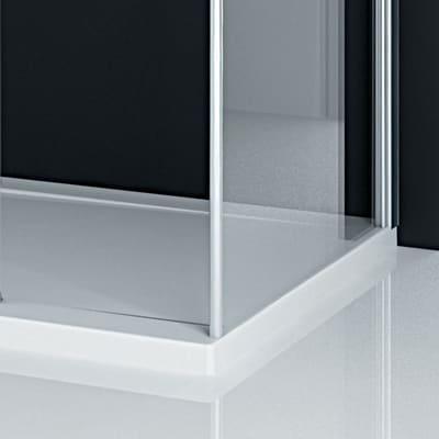 Laterale per walk-in Twist 36, H 195 cm cristallo 6 mm trasparente/silver