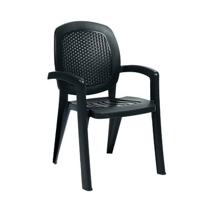 Sedia impilabile Creta Wicker antracite