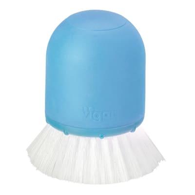 Scolapiatti Spazzola per piatti palmare Rengo con dispensatore di detergente blu L 8 x P 9,5 x H 8 cm