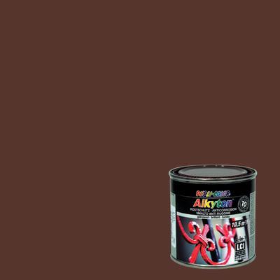 Smalto per ferro antiruggine Alkyton marrone RAL 8017 brillante 0,25 L