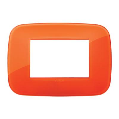 Placca 3 moduli Vimar Arké orange reflex