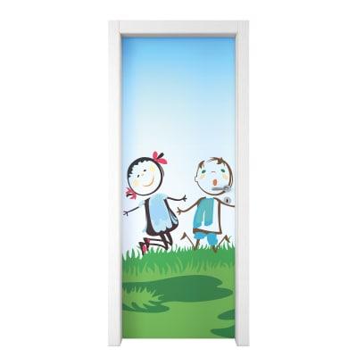 Porta da interno battente Junior 90 x H 210 cm sx