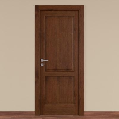Porta da interno battente Canova rovere noce 70 x H 210 cm dx