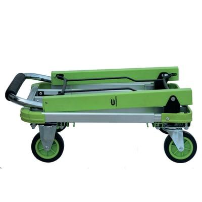 Carrello portatutto pieghevole con pianale allungabile, portata 150 kg