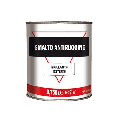 Smalto per ferro antiruggine grigio brillante 0,75 L