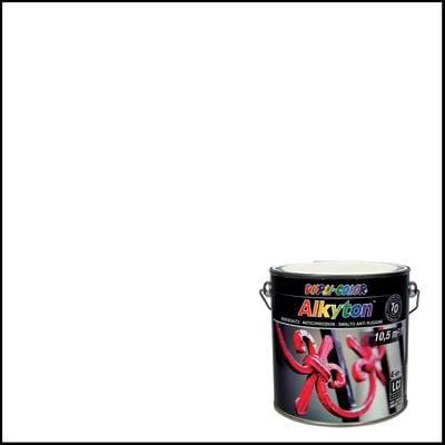 Smalto per ferro antiruggine Alkyton bianco RAL 9010 brillante 2,5 L