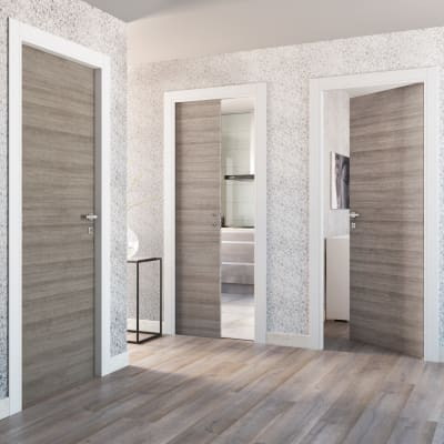 Porta da interno scorrevole One grigio/bianco 60 x H 210 cm reversibile