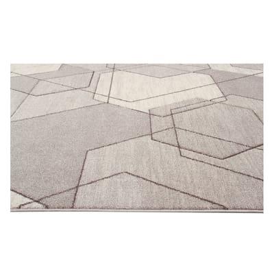 Tappeto Carve Exagon marrone, beige 120 x 160 cm