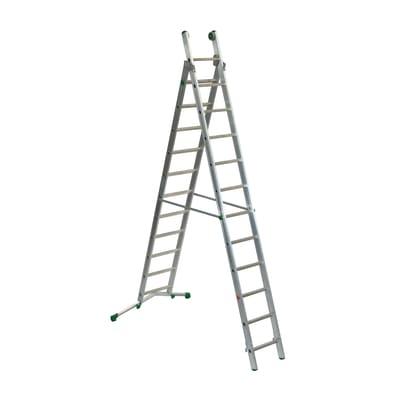 Scala sfilo alluminio Facal 11+12 gradini, per lavori fino a 7,2 m