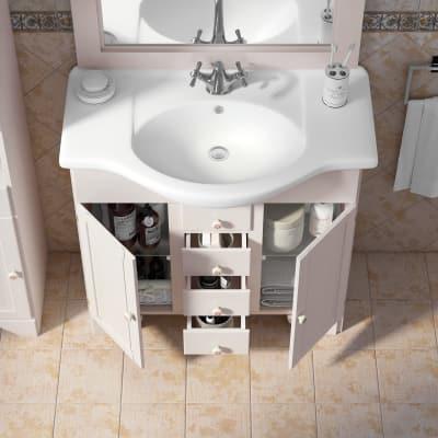 Mobile bagno Laura bianco L 83 cm