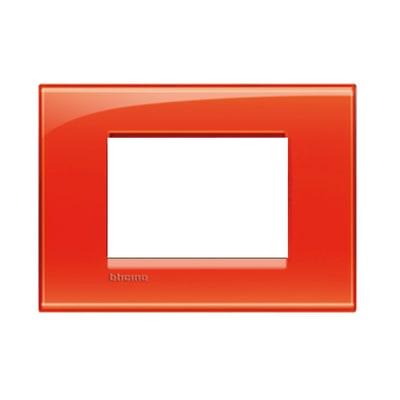 Placca 3 moduli BTicino Livinglight arancio