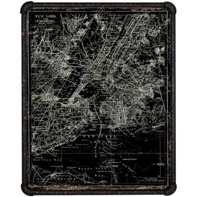 Quadro su tela con cornice Satellite map 80x60