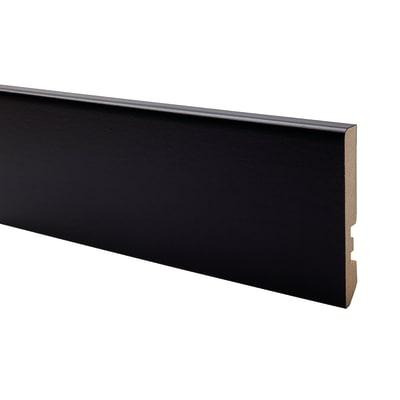Battiscopa carta finish rivestito nero 10 x 70 x 2200 mm