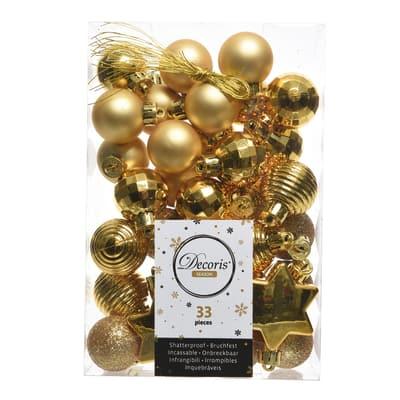 Box pendenti assortiti oro 4 cm