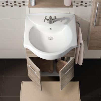Mobile bagno Ginevra rovere fumo L 56,5 cm