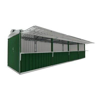 chiosco in metallo Cuba 25,55 m², 4 ribalte