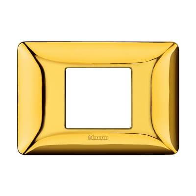 Placca 2 moduli BTicino Matix oro lucido