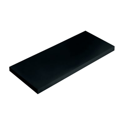 Mensola Spaceo nero L 56 x P 20, sp 1,8 cm