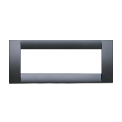 Placca 6 moduli Vimar Idea grigio grafite