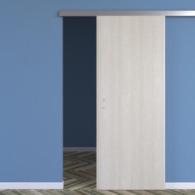 Porta da interno scorrevole One ash wood frassino 80 x H 210 cm reversibile