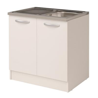 Base per lavello Spring 2 ante bianco L 80 x H 86 x P 60 cm prezzi e ...