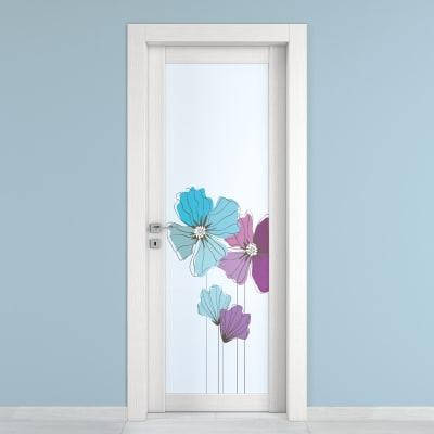 Porta da interno battente Eden larice bianco 80 x H 210 cm dx