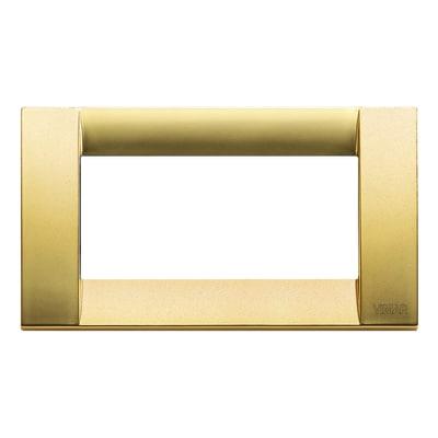 Placca 4 moduli Vimar Idea oro opaco