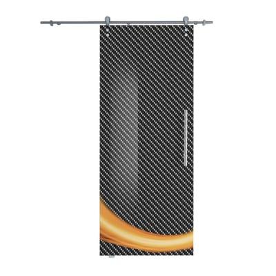 Porta da interno scorrevole Grafic 1/binario Lux 88 x H 215 cm sx