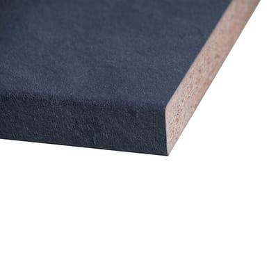 Piano cucina laminato Luserna nero 3.8 x 63 x 304 cm