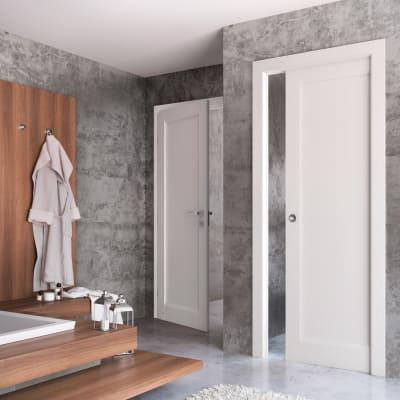Porta da interno scorrevole Aludra bianco 80 x H 210 cm reversibile