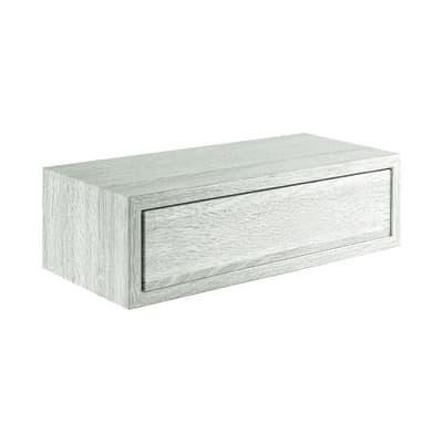 Mensola con cassetto Spaceo rovere sbiancato, sp 2,2 cm