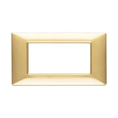 Placca 4 moduli Vimar Plana oro lucido