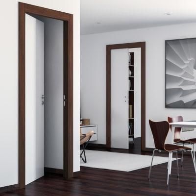 Porta da interno battente One bianca/brown 60 x H 210 cm reversibile