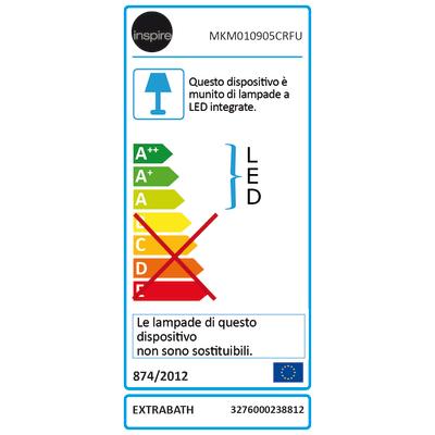 Faretto da incasso Ex.bath cromo LED integrato fisso tonda Ø 12 cm 9 W = 900 Lumen luce CCT (colour changing temperature)
