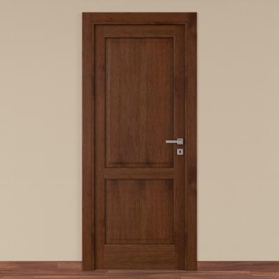 Porta da interno battente Canova rovere noce 80 x H 210 cm sx